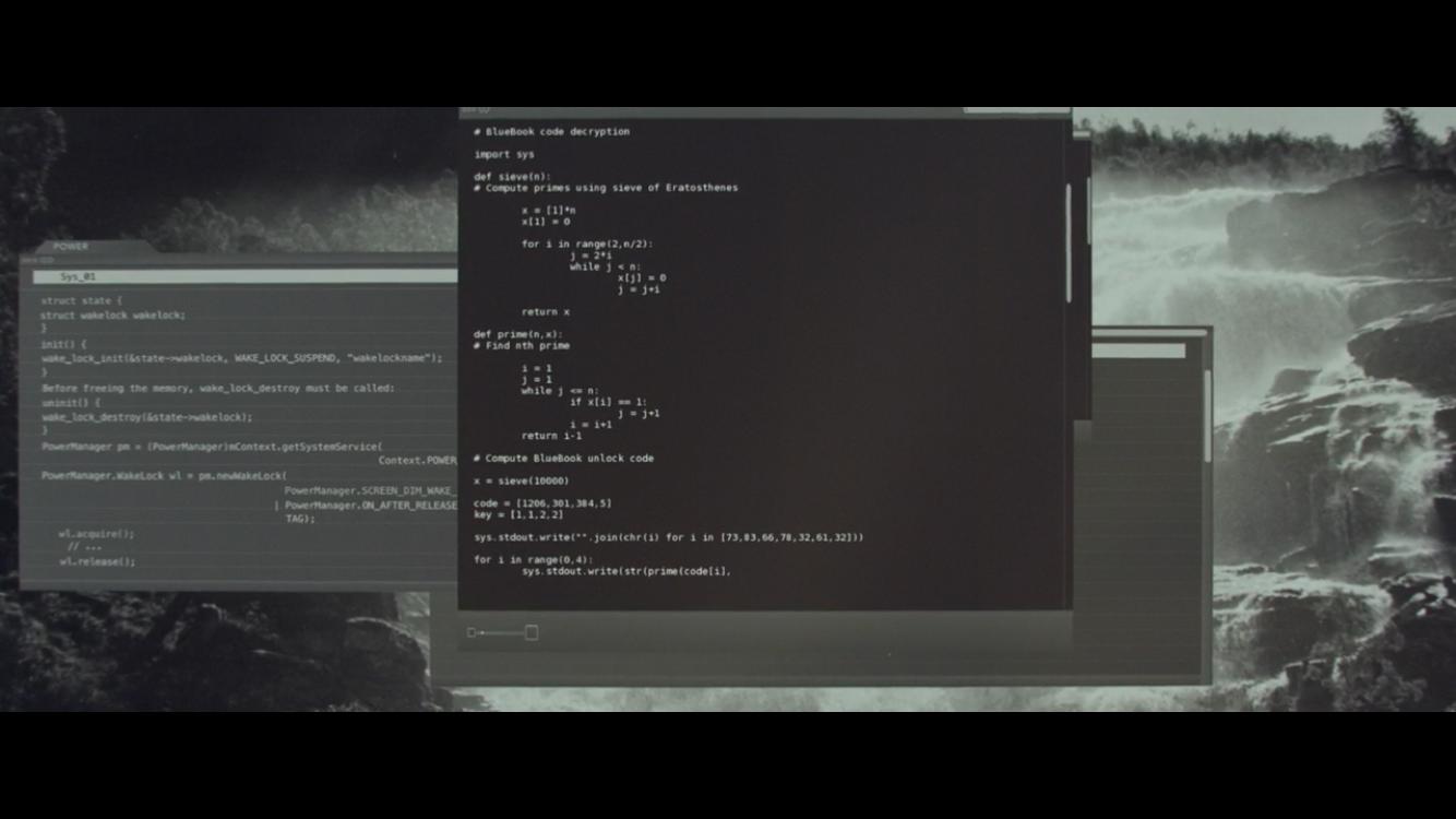 Python in Ex Machina